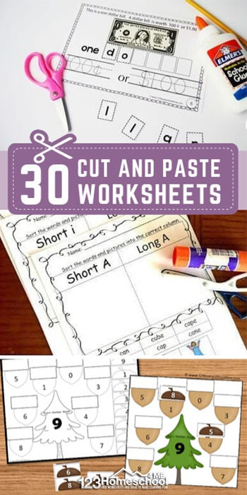 Cut and Paste Worksheet