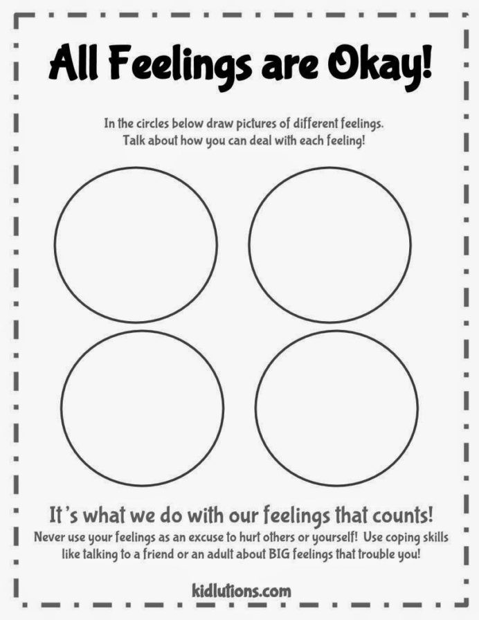 Feelings Worksheets for Adults