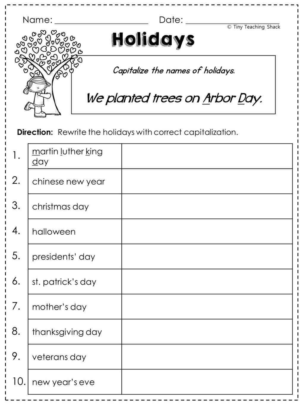 Free Printable Punctuation Worksheets