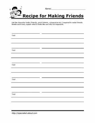 Printable Worksheets for Kids to Help Build Their Social