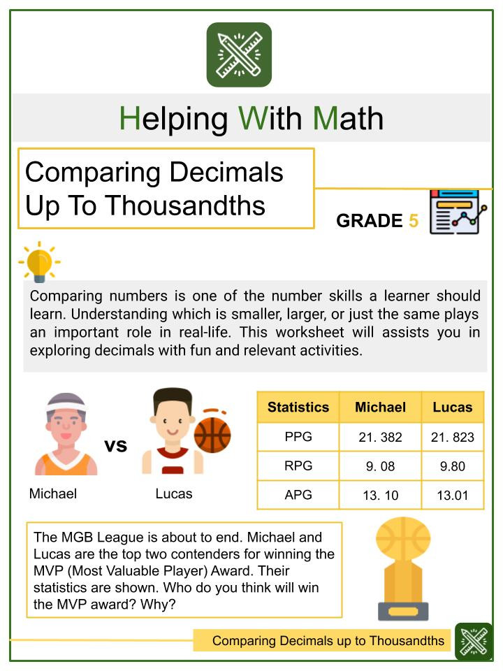 Long Division with Decimals Worksheets