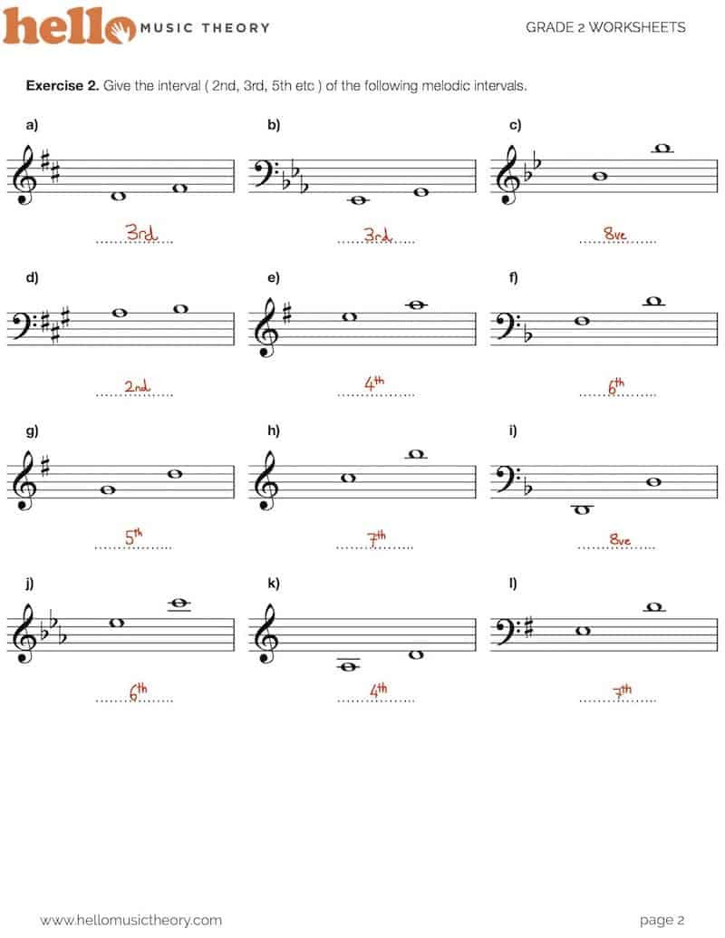 Music theory Worksheet for Kids