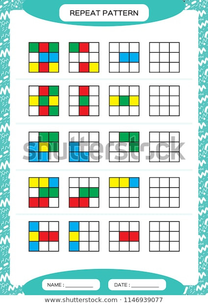 Repeated Pattern Worksheets