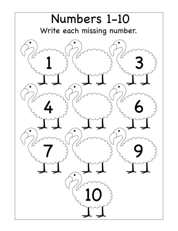 Tracing Numbers 1 20 Worksheets