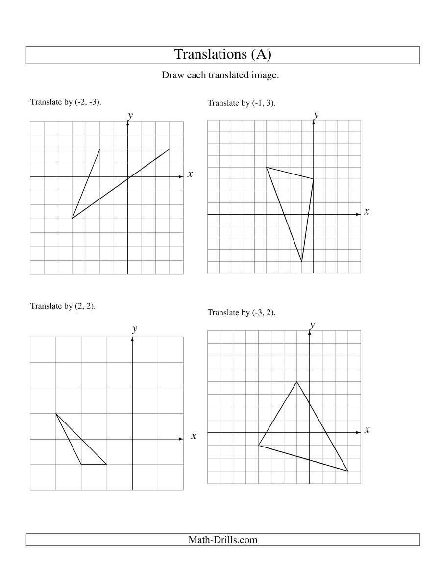 Translation of 3 Vertices up to 3 Units A