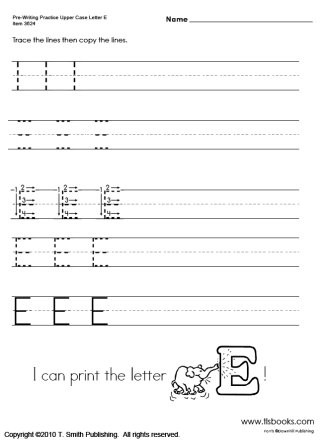 Upper and Lowercase Tracing Worksheets