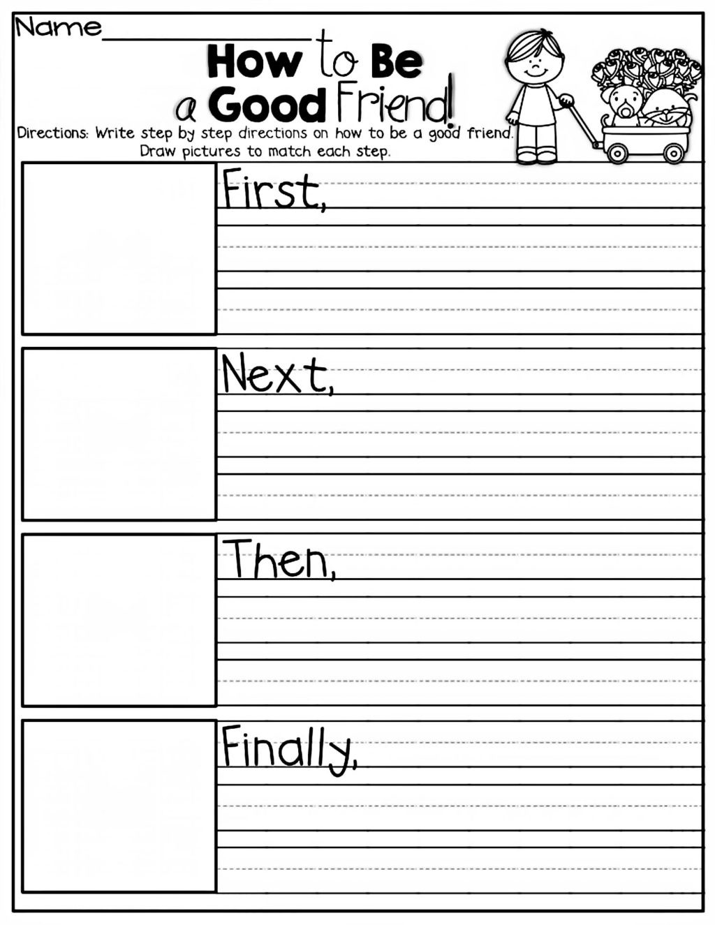 Worksheets for First Grade Writing
