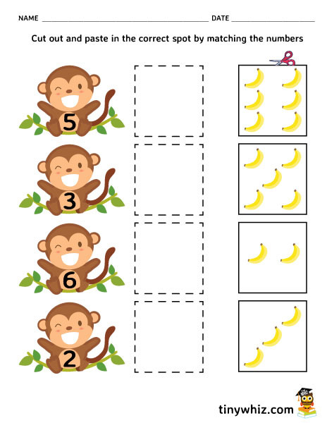 Cut and Paste Worksheets Free