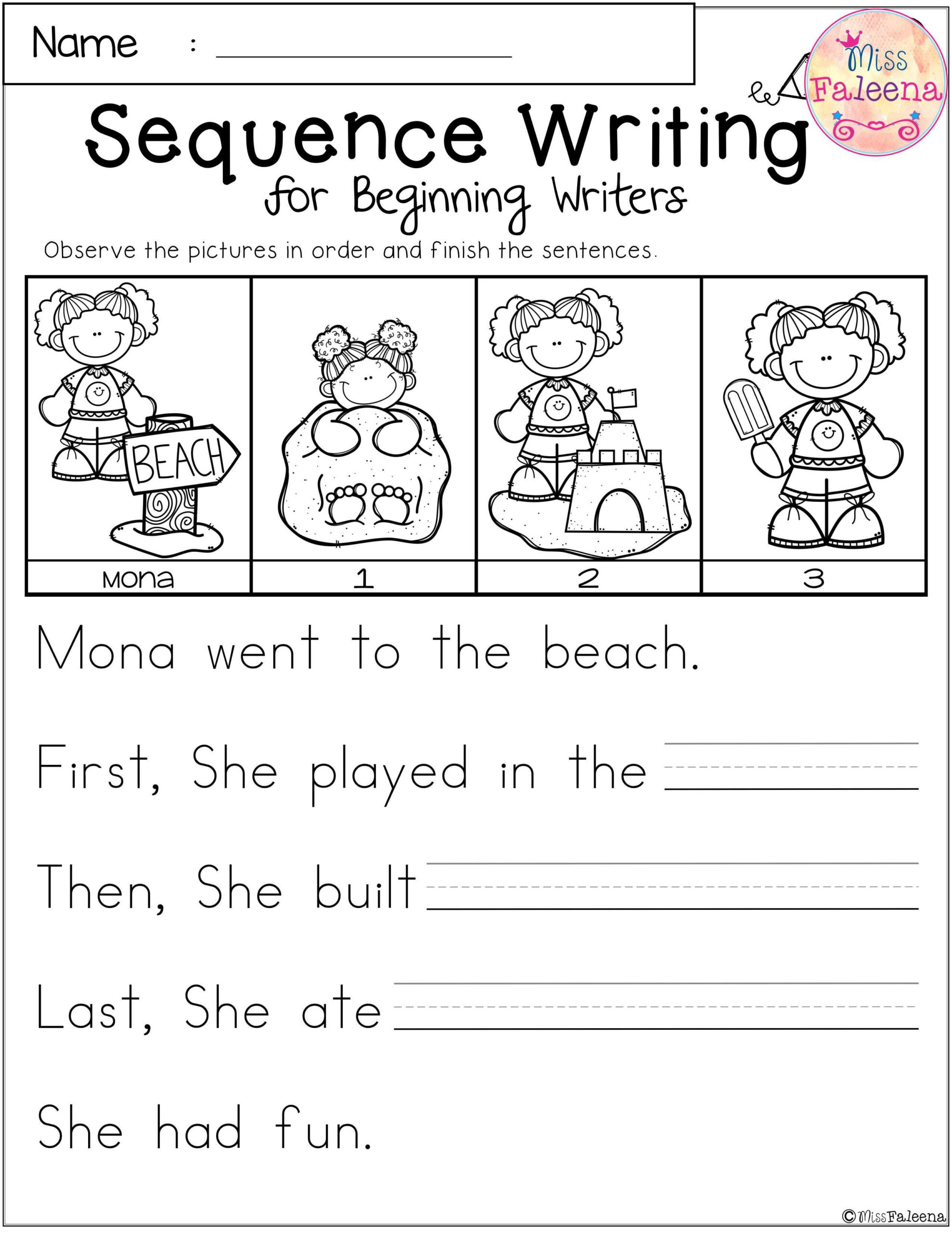 Sequence events Worksheets