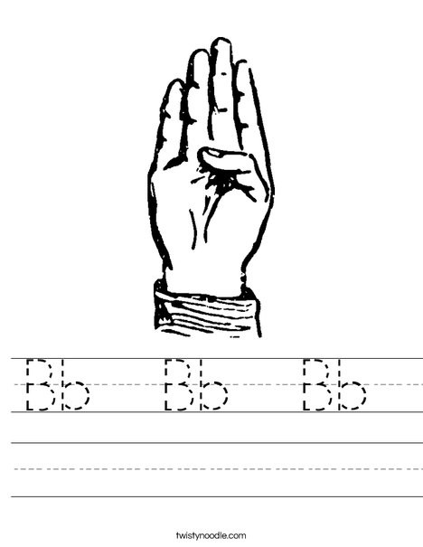 Sign Language Worksheets for Beginners