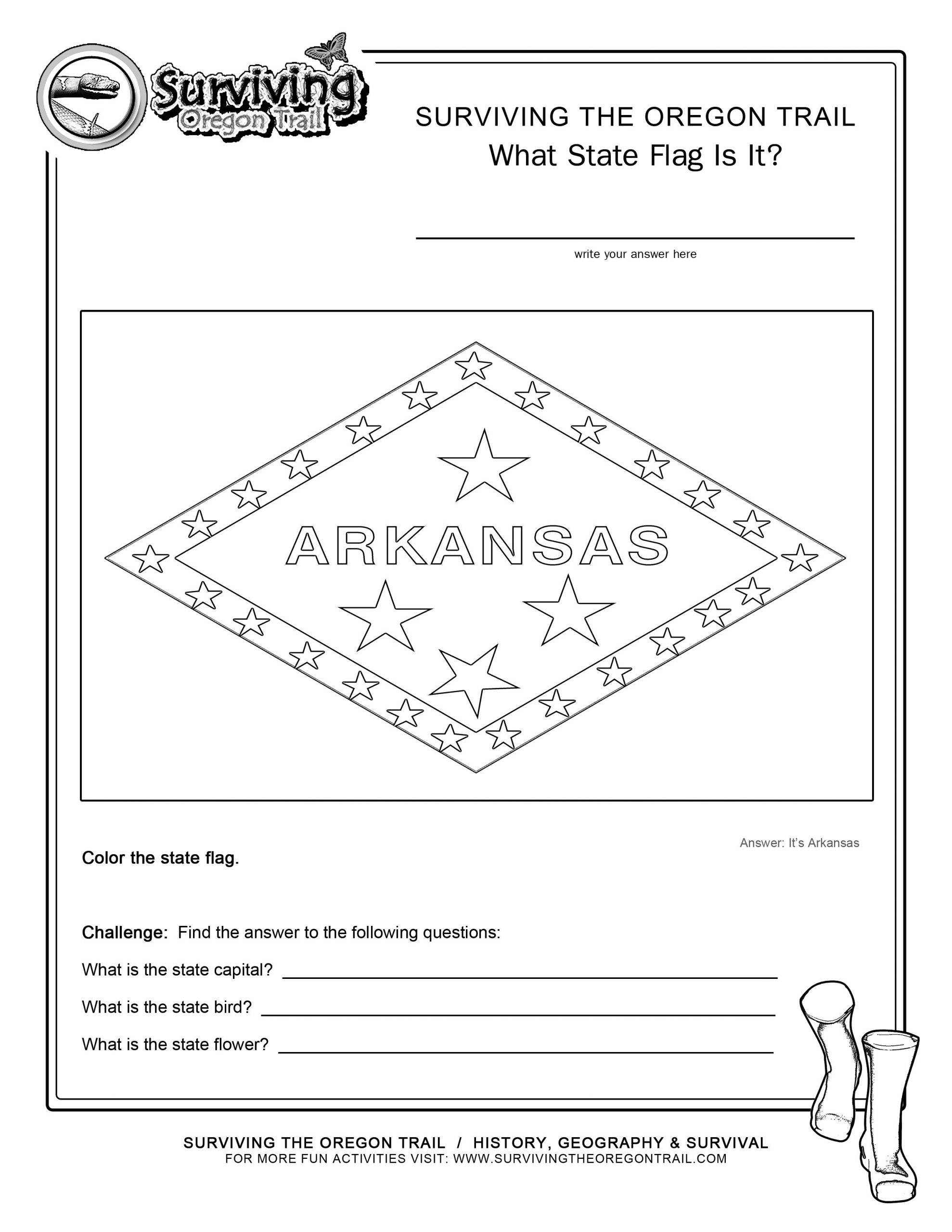 State Capitol Worksheets
