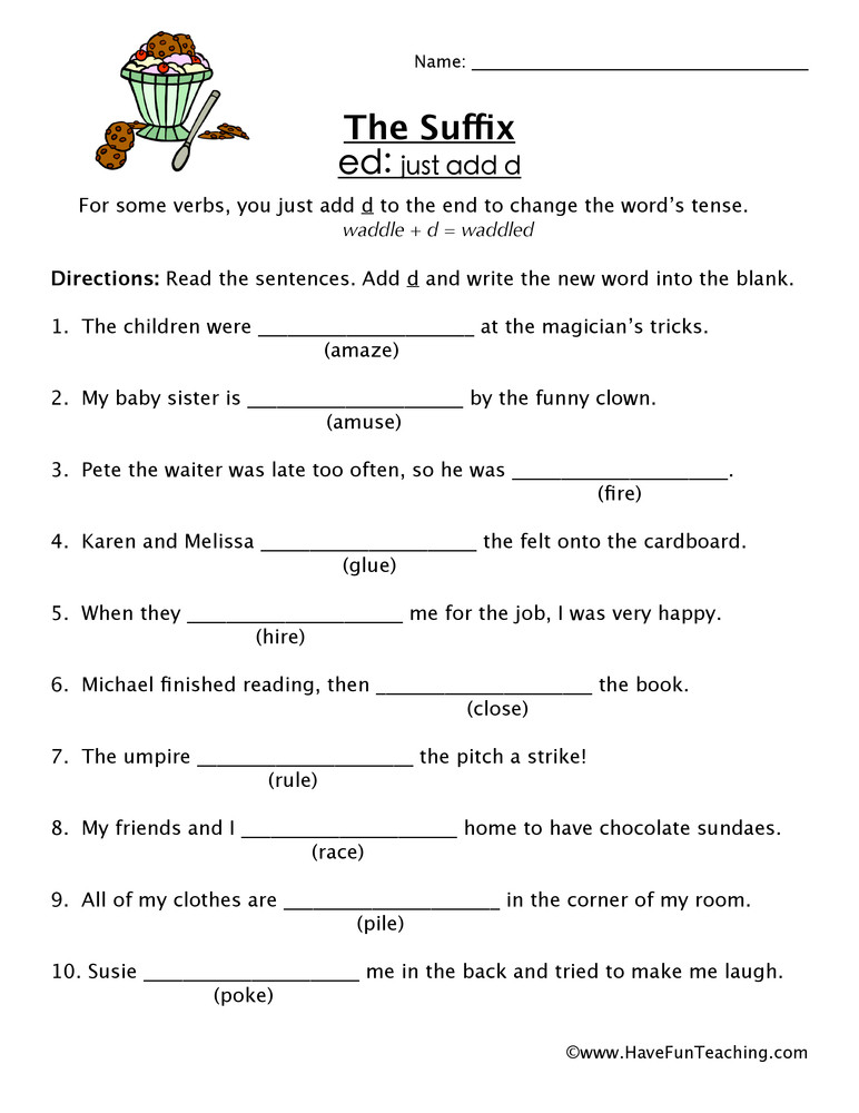 Suffix Ly Worksheet